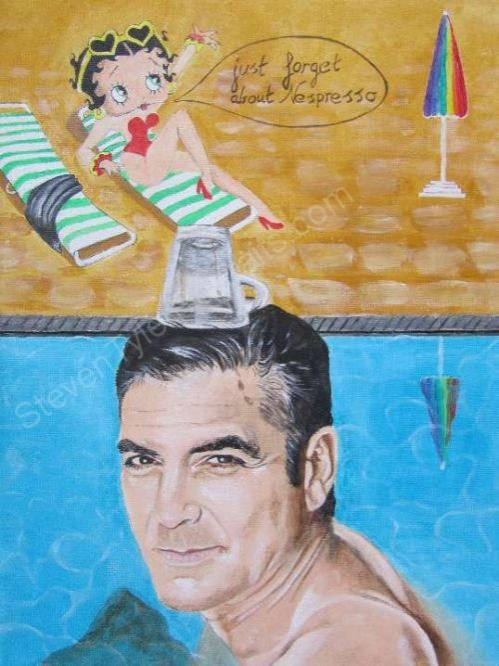 George Clooney, Betty Boop by jeepeeaero